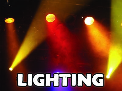 Hire Lighting in Kent from Audiocrew