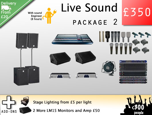 Live Sound Hire For Bands Professional Pa Hire From