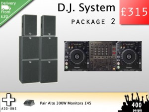 DJ Equipment hire