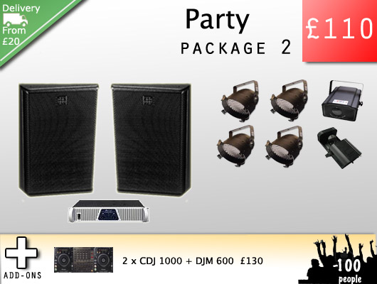 Party Speakers and amp hire