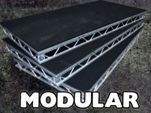 Stage hire - modular staging systems