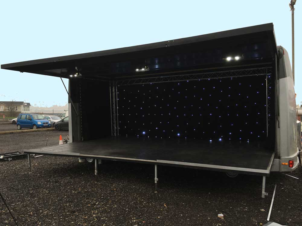 Stage hire - trailer stage