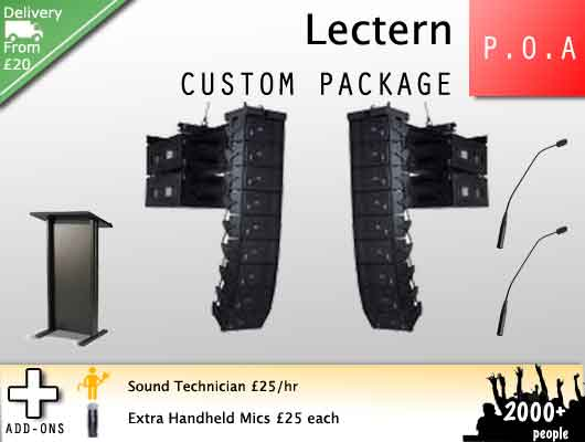 Lectern hire and wireless microphone rental
