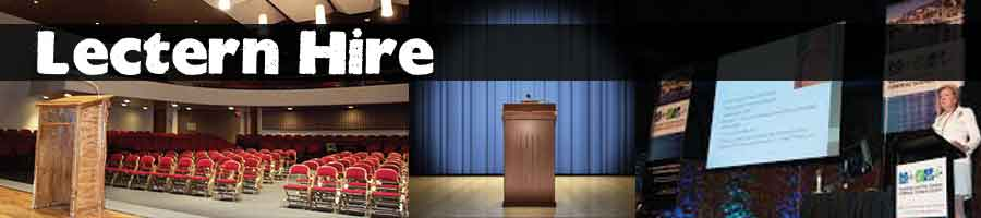 Lectern hire podium rental for talks and awards ceremonies