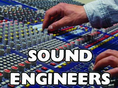 sound engineer hire, crew hire, lighting hire