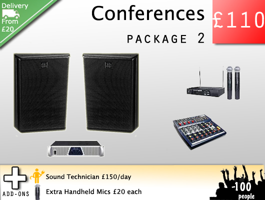 Hire a PA system for speeches, talks and lectures.