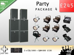 Party PA Hire Party Lights hire