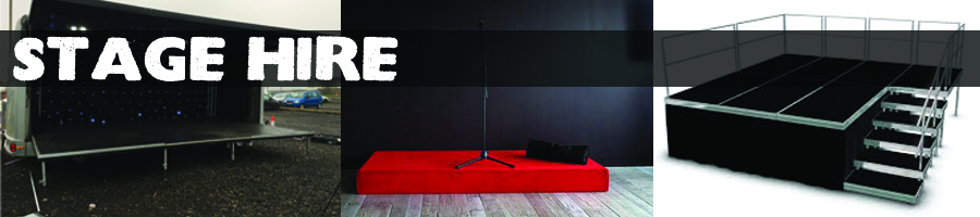 Rent a stage - modular panels or trailer