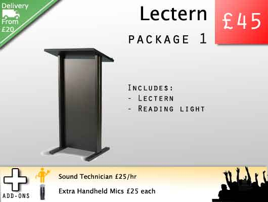 Lectern and podium rental for awards ceremonies