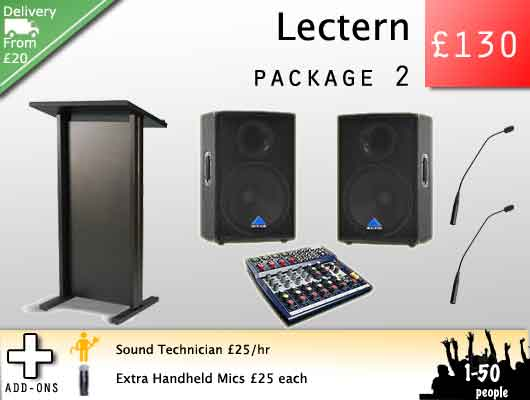 Lectern hire and audio visual rentals for awards ceremonies