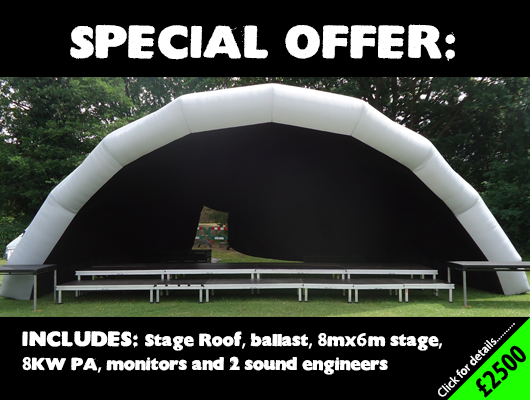 Covered stage and Sound Engineer in Kent